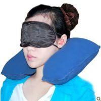 充气枕头u型护颈枕 旅行航空枕 子母枕 便携式旅游三宝 睡眠三宝