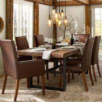 可定制 美式家具复古餐桌实木桌子做旧铁艺实木桌子家用餐桌批发