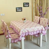 桌布布艺 田园风格餐桌布 桌布椅垫套装 桌布台布茶几布 新品