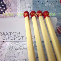 双十一创意家居仿真可爱火柴头 卡通筷子 搅拌棒餐具 2双入光棍节