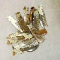 【东兴红木坊】越南三宝黑牛角水牛角白牛角12生肖防静电保健梳子