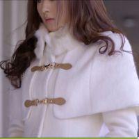杉杉同款-赵丽颖明星同款韩版斗篷毛呢外套HM(实物拍摄)