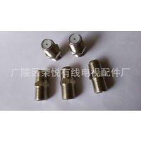 铜制F头通,防水头,分配器,同轴电缆连接器,连接器,接头配件