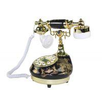 婚庆礼品仿古电话机欧式工艺摆件 树脂陶瓷工艺品座机电话机家用