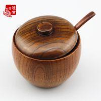 爆款热销大漆实木碗 创意有盖木碗雕味碗 儿童保温碗 天然餐具