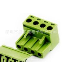 弯针KF2EDGK 4P拔插式接线端子 脚距5.08MM 300V10A=0.8