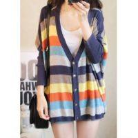 2014春装新款 新品韩版百搭蝙蝠袖大码针织衫开衫 女装 外套