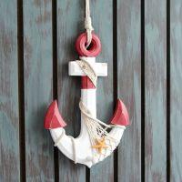 地中海创意船锚做旧挂件室内家居装饰壁挂墙饰壁饰客厅摆设
