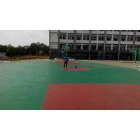 重庆塑胶篮球场地坪EPDM材料,货号2332,厚度6mm东大胶水,专业铺设