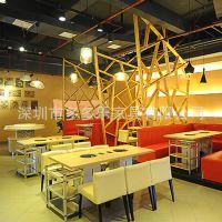 湖南热辣派火锅餐厅 小电磁炉火锅桌 餐厅桌子