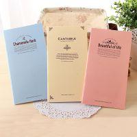 韩国创意文具批发 糖果色清新简约简单长条笔记本日记本记事本