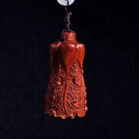 创意款 精品小叶紫檀木雕 木质手把件工艺品 白菜挂件 创意礼品