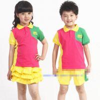 一套起批 自制版童装批发2014夏季幼儿园校服 中小学生园服