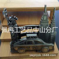 厂家直销创意出租车计程车美国纽约自由女神名片座夹盒钥匙扣新款