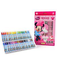 正品真彩迪士尼无毒36色儿童蜡笔绘画油画棒D201636