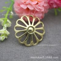 日式镂空花型装饰扣 纯铜财布扣 日式财布五金