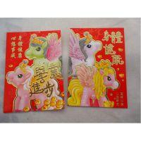 现货销售 40K四季平安卡通红包 浮雕烫金红包