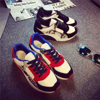 韩国百搭拼色休闲鞋运动鞋阿甘学生女球鞋2014新品时尚女鞋子秋季