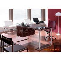 韩式真皮办公台电脑桌电脑台秘书桌椅职员台椅