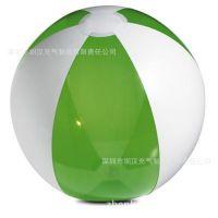 专业生产 六片彩色丝印环保6P-PVC磨砂透明LED发光充气沙滩球