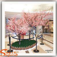 供应批发仿真桃花树 人造桃花树 室内外装饰树
