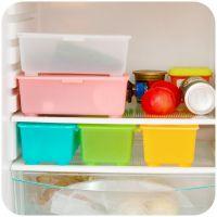 M加厚有盖可叠加保鲜盒 收纳盒 塑料零食储存盒 冰箱储物盒