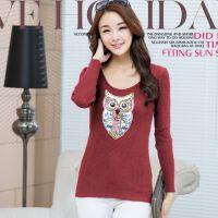 一件代发批发2014秋冬新款韩版修身型针织衫女式长袖打底衫套头衫