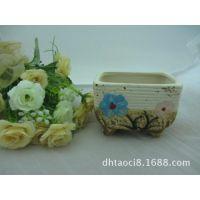批发陶瓷工艺品、浴缸型花盆、手绘花盆、仿古花盆、zakka韩式