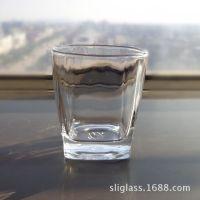 供应透明钢化玻璃杯  四角底钢化杯  烈酒杯   钢化餐具杯  酒杯