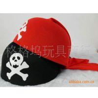 复活节帽子 派对帽子 海盗系列 骷髅帽子 海盗帽 红黑骷髅帽