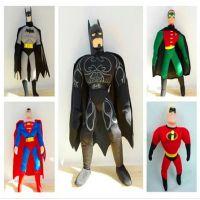 批发蝙蝠侠 超人公仔 超人总动员玩偶 毛绒玩具 儿童节生日礼物