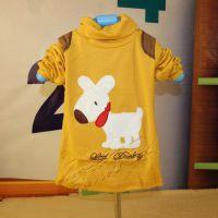 特价K6 羊毛拉架小狗男童上衣 长袖打底衫 男童T恤D4841