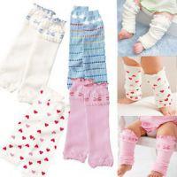 008韩版日单儿童护膝 四色透气婴儿外套 夏季薄款宝宝松口袜套