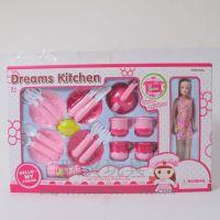 新款餐具套装配芭芘 芭比女孩餐具(三色混装)儿童过家家玩伴
