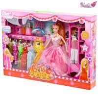 厂家直销 芭比芭芘巴比娃娃 玩具批发 彩盒礼服套装678