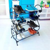 铁艺创意防尘宜家家居鞋架鞋柜组合收纳架多层多功能简易组装折叠