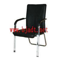 办公椅直销 前腿后弓 金属电镀管架 实木扶手