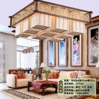 供应中式木艺吊灯古典羊皮灯酒店茶楼工程灯清明图羊皮灯8005