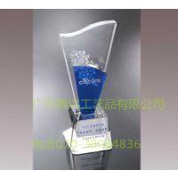 供应江门水晶奖杯厂家销售诗歌朗诵比赛奖杯水晶奖杯包刻字加logo