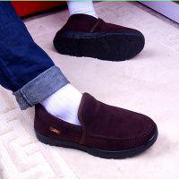 2014冬季男士保暖绒面雪地靴加绒简约款休闲加棉鞋子厂家批发