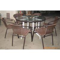 仿藤椅,藤玻璃桌,花园桌椅,户外桌椅,休闲家具,艺派YPS008