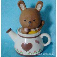 两节水壶小兔子存钱罐 沐浴储钱罐 卡通迷你储钱罐 可爱储钱罐