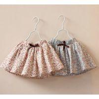 多可爱2014年秋夏季新款童装女童蝴蝶结系带儿童碎花双层小短裙