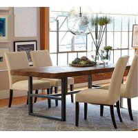 专业加工定制 现代款客厅餐厅餐桌 精美创意实木铁艺餐桌