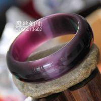 B【1660】猫眼石贵气手镯 猫睛石宽镯子 手环 改善皮肤 高贵紫色