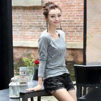 2014秋装新款韩版女装修身显瘦T恤大码长袖打底衫T恤女