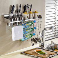 304不锈钢厨房置物架 收纳架 刀架调味架厨具架子 壁挂 厨房用品