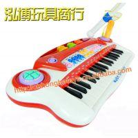 宝丽3037B多功能电子琴配麦克风  小小音乐家 益智早教音乐玩具
