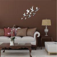 jy074飞鸟速卖通亚马逊热卖亚克力DIY3D可移创意家居装饰镜面墙贴