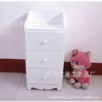 高档实木欧式三层白色抽屉柜 整理柜 定做批发实木收纳柜 木柜